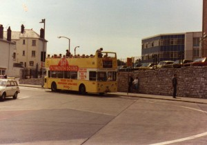 Plymouth Sound open top bus from the 80s