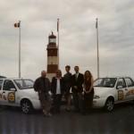 Plymouth Sound News - Malcom Carroll, Emma Thomasson, Lisa Hay, Daryl Jenner and Emma Brain circa 2000