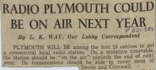 Pre-Plymouth Sound Radio: Before it all Began